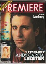 Première magazine du cinéma N°169 Avril 1991 Isabelle Huppert Serge Gainsbourg