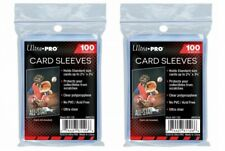 Ultra pro Set of 2 x 100 Pouches Guards Cards 200 Store Safe Sleeves Jcc