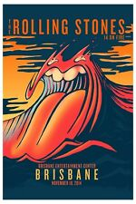 The Rolling Stones at Brisbane Australia Concert Poster 2014  13x19