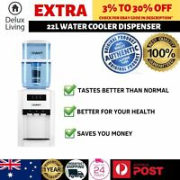 22L Water Cooler Dispenser Hot Cold Filter Purifier Counter Bench Top Three Taps