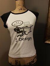 'I design' Graphic Designer Ladies T-shirt Medium Fitted