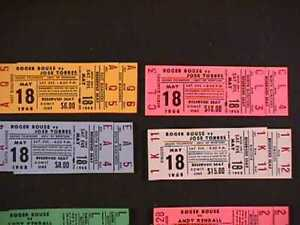 1968 Montana Boxing match 50 unused tickets - Roger Rouse, Bobby Chacon, more
