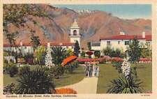 Palm Springs California El Mirador Hotel Gardens Antique Postcard K40145