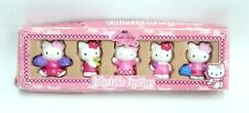 """HELLO KITTY Set Of 5 COLLECTABLE FIGURINES Sanrio In Different Poses 2"""" - E31"""