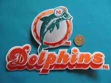 1 VINTAGE HUGE MIAMI DOLPHINS NFL FOOTBALL PATCH CREST EMBLEM LOT