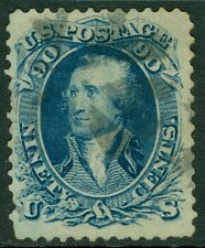 USA : 1861. Scott #72 Used. Very Fresh color for this. Very small tear. Cat $600