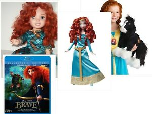"14"" Brave Merida Baby & 11"" Doll, Stallion Horse 14""  Blu-ray Collectors Edition"