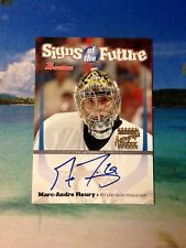 2003 MARC ANDRE FLEURY RC AUTO BOWMAN SIGNS OF THE FUTURE SOF-MAF TOPPS ROOKIE