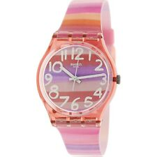 Swatch Women's Originals GP140 Pink Plastic Swiss Quartz Fashion Watch