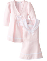 Bonnie Jean Baby Girls Pink Easter Holiday Bow Coat Dress Set 12 18 24 Months