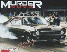 2018 Murder Nova signed Precision Turbo Chevy Nova SEMA Street Outlaws postcard