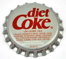 Coca-Cola Dieta Coke Soda Tappo Bottiglia USA Sigillo in plastica