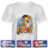 Mens Printed T-Shirts British Bulldog White T-Shirt Graphic Tee Shirt Funny Tops
