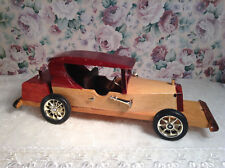 All Wooden 1930's Art Deco Style Rolls Royce Collectable or Decorative Toy Car