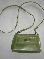 Beijo Apple Green Wristlet Small Crossbody Clutch Purse Handbag Shiny Patent