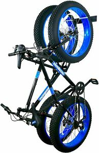 StoreYourBoard BLAT Bike Fat Tire Wall Rack, Holds 2 Bikes, Metal Storage Hooks