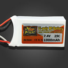 ZOP Power 7.4V 1000mAh 2S 25C Lipo Battery JST Plug Weight: 56g Size:18*30*53mm