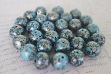 40 pce Antique Style Round Acrylic Beads 12mm Jewellery Making Craft
