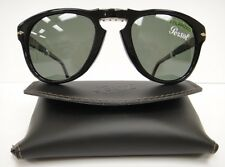 PERSOL 714 SUNGLASSES BLACK Polarized (9558) Steve McQueen Size 52