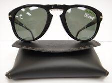 PERSOL 714 SUNGLASSES BLACK Polarized (9558) Steve McQueen Size 54 Large