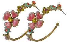 Pilgrim 16k Gold Plated Earrings Swarovski Crystals Handmade Vintage Jewelry