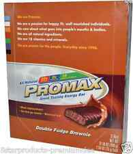 NEW PROMAX NUTRITION ENERGY BARS DOUBLE FUDGE BROWNIE PROTEIN DAILY BODY CARE