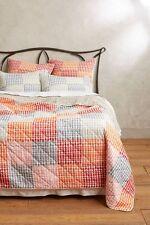 ANTHROPOLOGIE Menai Coverlet QUEEN Quilt Print Cotton Bedding Reversible NIP