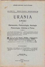 Urania, rivista, 1923, anno XII n. 5, astronomia, mineralogia, chimica, fisica