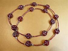hm649 irisé verre rouge Chalumeau Collier à perles
