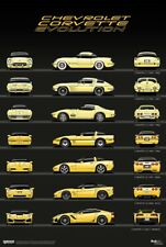 Chevrolet Corvette Evolution Wall Art Poster Brochure Picture Print A3