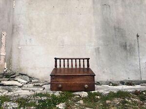 Antique Wooden Cashier Desk & Drawer