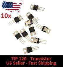 10x TIP120 NPN BJT ST Darlington Transistor TO-220 for Arduino DIY Project
