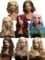 Ladies Fever Wig Adults Fancy Dress Accessory Long Short Wavy Brunette Blonde