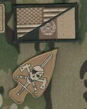 JTF JOINT SPECIAL OPERATIONS TASK FORCE velkrö OCP 2-PS: US/Afghan Flag + Skull