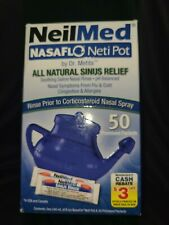 NeilMed Nasaflo All Natural Sinus Relief Soothing Saline Nasal Rinse 50ct premix
