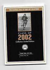 2002 Goal Line Art Card Set George Allen, Dave Casper, Dan Hampton, Jim Kelly