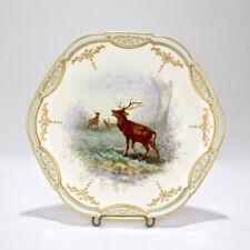 Old Limoges Porcelain Game Cabinet Plate - Narcisse Vivien PC 2