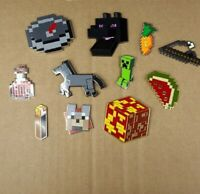 Minecraft Mine Chest Trading Pins Dog Horse Creeper Potion Torch Plus Lot of 11