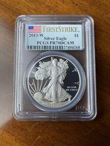 "2013-W ASE American Silver Eagle PCGS PR-70 ""First Strike"""