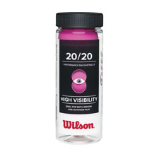 Wilson 20/20 Racquetball 3 Ball Can, Pink