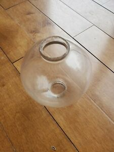Antique Clear Glass Lighting Rod Ball