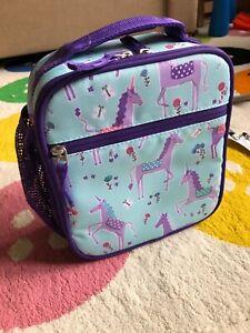 Pottery Barn Kids Unicorns MacKenzie Lunch Box - Turqiose & Purple - NEW