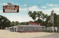 Postcard Colonial Confederate Inn Gulfport Mississippi MS 1960