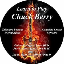 Chuck Berry Guitar TABS Lesson CD 60 Songs + 7 Backing Tracks + BONUS!