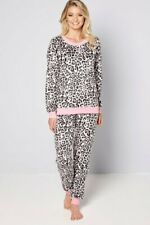 LADIES SOFT - PINK ANIMAL PRINT  FLEECE  Pyjamas  PJS GIRLS WOMENS   - 20 - 22