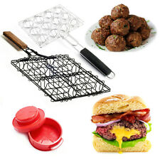 Stuffed Hamburger Meatball Grilling Baskets Press Set Steven Raichlen Maker Rack