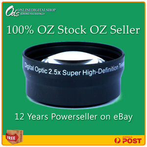 ODS 2.5x HD Telephoto Zoom Lens Nikon D series + FREE Lens Cleaner@ $15