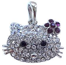 Pendentif CHAT style Faberge Bijou fantaisie raffiné Pendentif Chat Hello Kitty