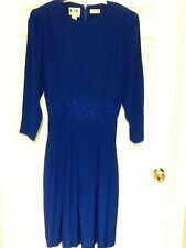 K S L mother of the bride dress plus size 16W rayon royal blue beaded 51