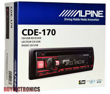 Alpine CDE-170 In-Dash Car Stereo CD/MP3/USB/AUX/Pandora Receiver Car Radio